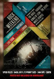Indie Rock Concert Flyer Poster
