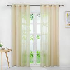 gardinen mit ösen vorhänge modern ösenschals wohnzimmer