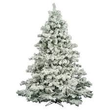 10 The Holiday Aisle Flocked Alaskan 65 Foot White Pine Artificial Christmas Tree