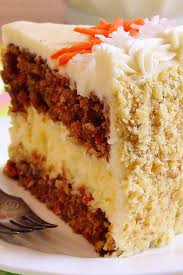 Carrot Cake Cheesecake Cake Bakery Style Perfectly moist and flavorful carrot cake layered with