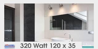 infrarot heizkörper als spiegel in 10 größen