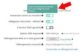 transfert de si e transfert et résiliation nom de domaine depuis ovh vers 1 1