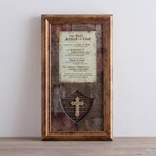 The Full Armor Of God Framed Wall Art Home Framed Wall