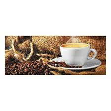 glasbild kaffee am morgen panorama quer