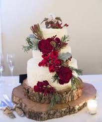 Red Barn Christmas Wedding Cake