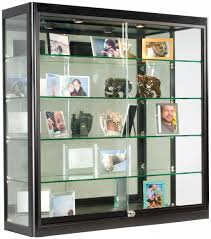 Wall Mounted Display Shelves Collectibles Clear Glass Shelf For Photo Frame 3x3 Case
