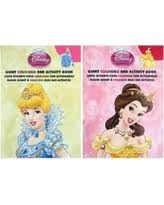 Disney Princess Giant Coloring And Activity Book Set Of 2