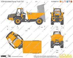 100 Articulating Dump Truck JCB 718 Articulated Vector Drawing