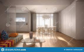 unscharfe innenausstattung minimalistisches wohnzimmer mit