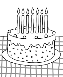 Preschool Coloring Pages Birthday Cake Free Printable