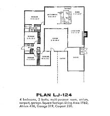 100 Eichler Home Plans Floor Fairhaven SoCalSoCal