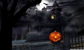 Halloween Live Wallpapers Apk by Spooky House Bats Pumpkin Full Moon Hallowmas Halloween Hd Desktop