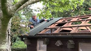how to re roof a shed with onduline corrugated roofing sheets