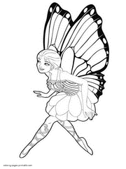 Barbie Mariposa And The Fairy Princess Printable Coloring Sheets