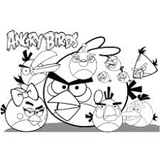Angry Birds Friends Together Coloring Page