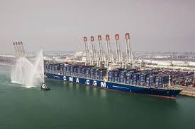 inauguration du plus grand porte conteneurs français au port du