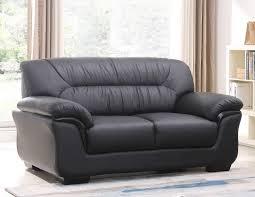 schwarzes 2er sofa mit federkern 327 2 s sofort