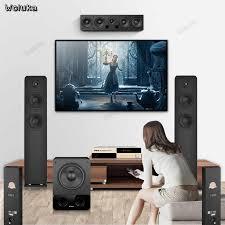 heimkino lautsprecher set 5 1 surround kombination lautsprecher für familie wohnzimmer fm101 cd50 w05