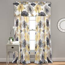 Bed Bath And Beyond Gray Sheer Curtains by Coffee Tables Yellow Curtains For Bedroom Yellow Patterned