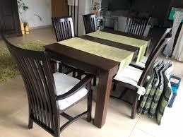 esstisch mit 6 stühlen kolonialstil