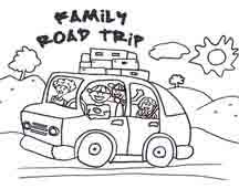 Click Image To Download And Print Coloring Page Road Trip