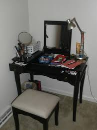 Makeup Vanity Desk With Lighted Mirror by Black Vanity Set With Lights Home Vanity Decoration