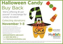 Operation Gratitude Halloween Candy Buy Back by My Kid U0027s Dentist Hosts Candy Buy Back November 1 3 Macaroni Kid