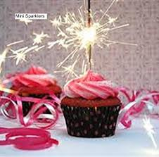 10 Mini Sparklers Perfect for a Birthday Cup Cake Adult Supervision advisable