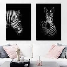 beliebte deer poster wand kunst leinwand wand bilder für wohnzimmer zebra 1pc elefanten tier malerei home dekoration