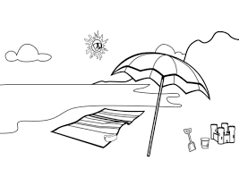 Click To See Printable Version Of Beach Scene Coloring Page