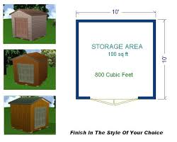 10x10 Storage Shed Plans Package Blueprints Material List
