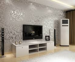 Silver And Shiny Living Room Wall Design Ideas