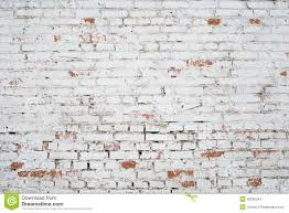 Cracked White Grunge Brick Wall Textured Build Facade