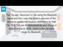 Tile Gps Tracker Range by How Does The Tile Work Youtube