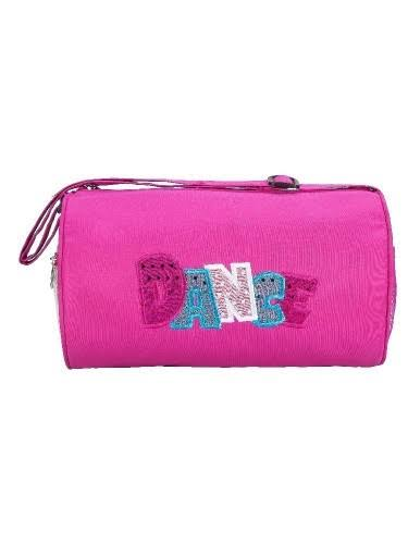 Sassi Designs Hot Pink Silver Glitter Dance Duffel Bag, Size: One Size