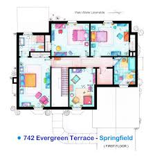 100 Simpsons House Plan Accurate Floor S Of 15 Famous TV Show Apartments The