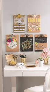 100 Decorated Wall Office Organization Ideas DIY Clipboard Art Inspiration