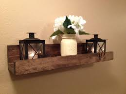 Rustic Wooden Picture Ledge Shelf Gallery Wall Floating