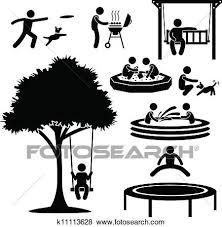 Clip Art Home Backyard Activity Pictogram Fotosearch Search Clipart Illustration Posters