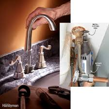 Outdoor Faucet Leaking From Bottom by 10 Tips For Installing A Faucet The Easy Way Family Handyman