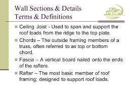 Jack Ceiling Joist Definition by Competency Draw Wall Sections Ppt Video Online Download