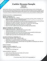 Sample Cover Letter For Retail Cashier Resume Popular