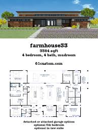 100 Modern Home Floorplans This Modern Farmhouse Plan Includes A Huge Loftstyle Openconcept