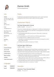 Example Resume Call Center Representative