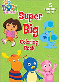 Super Big Coloring Book Jumbo Nick Jr Dora The Explorer