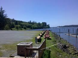 Waterfront RV resort park and marina on the Oregon coast
