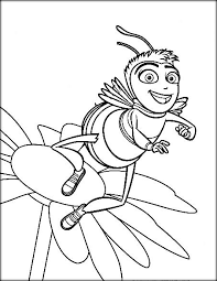 Bee Movie With Flower Printable Pages For Boys