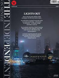 A Copy Of The Last Print Edition Independent On Sunday Newspaper PRESS ASSOCIATION