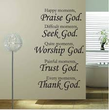 Thank God Quote Living Room Bedroom Wall Decals Vinyl Art Home Decor Religious Stickers