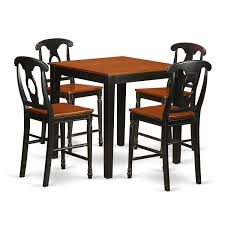 East West Furniture PBKE5-BLK-W Oakley 5piece Solid Wood Counter Height Table Set By Coaster At Dunk Bright Fniture Ferra 7 Piece Pub And Chairs Crown Mark Royal 102888 Lavon Stools East West Pubs5oakc Oak Finish Max Casual Elements Intertional Household Pubs5brnw Derick 5 Buew5mahw Top For Sets Seats Outdoor And Unfinished Dimeions Jinie 3 Pc Pub Setcounter Height 2 Kitchen